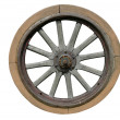 Old wagon wheel — Stockfoto #12843251