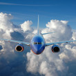 Stock Photo: Commercial airplane in flight