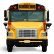 Stock Photo: Front view of school bus