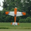 Radio control plane hovering — Stock Photo