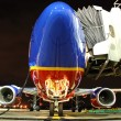 Stock Photo: Southwest Airlines plane at gate