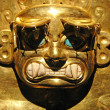 Peruvian Ancient Mask made out of Gold — Stock Photo