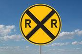 Demiryolu geçidi uyarı — Stok fotoğraf