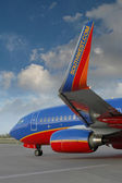 Southwest Airplane taxiing — Stock Photo