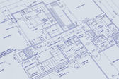 Blueprint of a house — Foto Stock