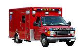 在白色背景上孤立的救护车 — 图库照片