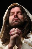 Portrait of Jesusin prayer — Stock Photo