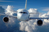 Commercial Airliner in Flight — Stock Photo