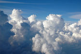 Clouds forming a massive storm over the Atlantic Ocean — Stock Photo