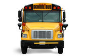 Front view of school bus — Stock Photo