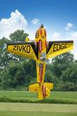 Radio control airplane hovering — Stock Photo