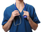 Doctor holding stethoscope� — Photo