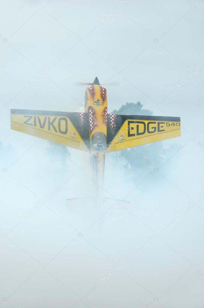 Radio control plane hovering — Stock Photo #12844018