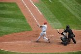 Alberrt プホルス hiting 野球 — ストック写真