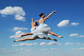 Ballerinas during performing — Stock Photo