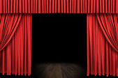 Large red curtain stage — Foto de Stock