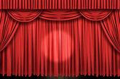大型红色帷幕舞台 — 图库照片