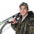 Young hunter with bow — Stock Photo #13109263