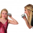 Communication between two sisters — Stock Photo