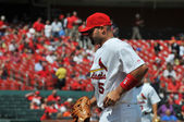 Albert Pujols at Busch Stadium — Stock Photo