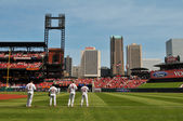 Panoramic view of Busch Stadium in Saint Louis — Stock Photo