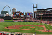 Panoramic view of Busch Stadium — Stock Photo