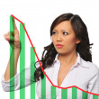 Young asian businesswoman with chart — Stock Photo #13214997
