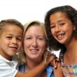 Foto Stock: Portrait of biracial family