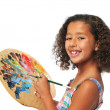 Girl with palette - Foto Stock
