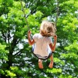 Little girl swinging — Stock Photo #13215627