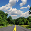 Road in a rural area — Stock Photo