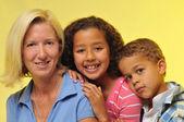 Matka a děti — Stock fotografie