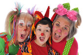 Drei clowns — Stockfoto