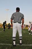 Referee at a Football game — Stock Photo