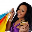 African american shopper — Stock Photo