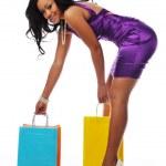 African american shopper — Stock Photo #13565867