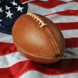 Football againsta USA flag — Stockfoto