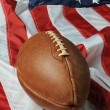 Stock Photo: Football against Americflag