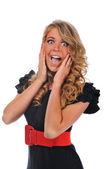 Businesswoman excited — Stock Photo