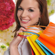 Young woman shopper - Stockfoto