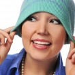 Young woman with hat — Stock Photo #13738341