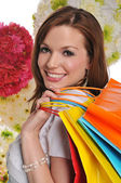 Young woman shopper — Stockfoto