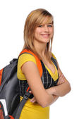 Student with backpack — Stock Photo