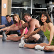 Stock Photo: Group of stretching