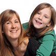 Stock Photo: Mother and daughter smiling