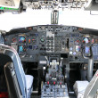 Stock Photo: Commercial airline cockpit