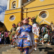 Peruvian folklore dance Los Diablos in Northern Peru — Stock Photo