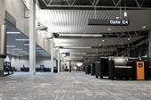 Airport terminal interior — Stock Photo