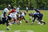 Saint Louis Rams Football team during practice — Stock Photo