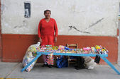 Street vendor in Northern Peru — Stockfoto